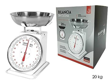 Báscula de cocina de precisone, carga máxima 20 kg, división 100 g, bandejas