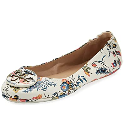 5f0536158d14 Tory Burch Minnie Travel Ballet with Logo Printed Nappa Leather (8