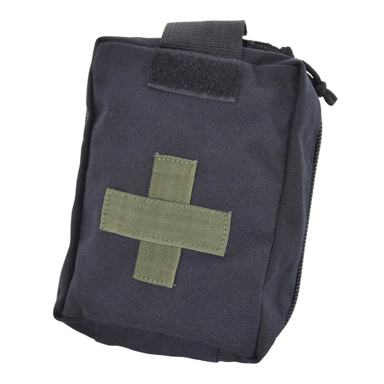 ポーチfor First Aid救急箱by techinkom |元ロシア陸軍  ブラック B0796T1NY2