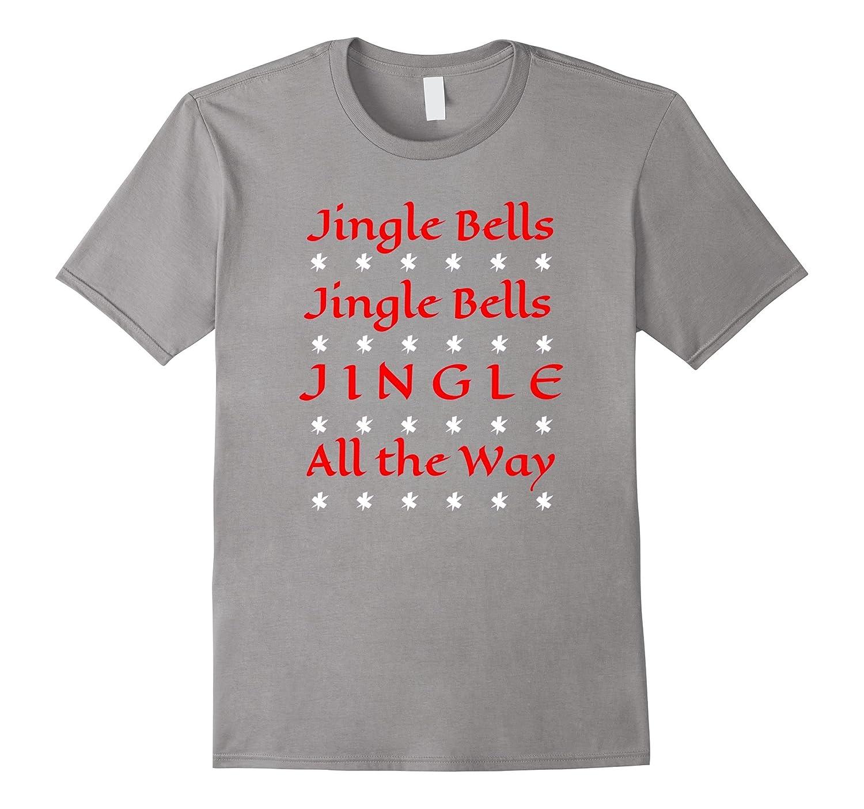 Jingle Bells Christmas T-Shirt Ugly Sweater Party Tee Shirt-ANZ