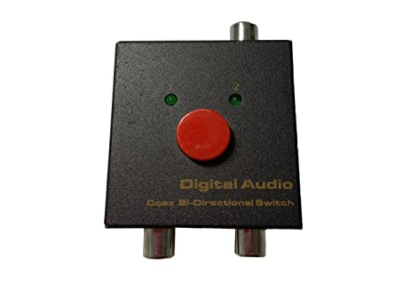 Panlong Bi-Directional Digital Coaxial Audio Switch Coax Switcher Selector 2x1 or 1x2