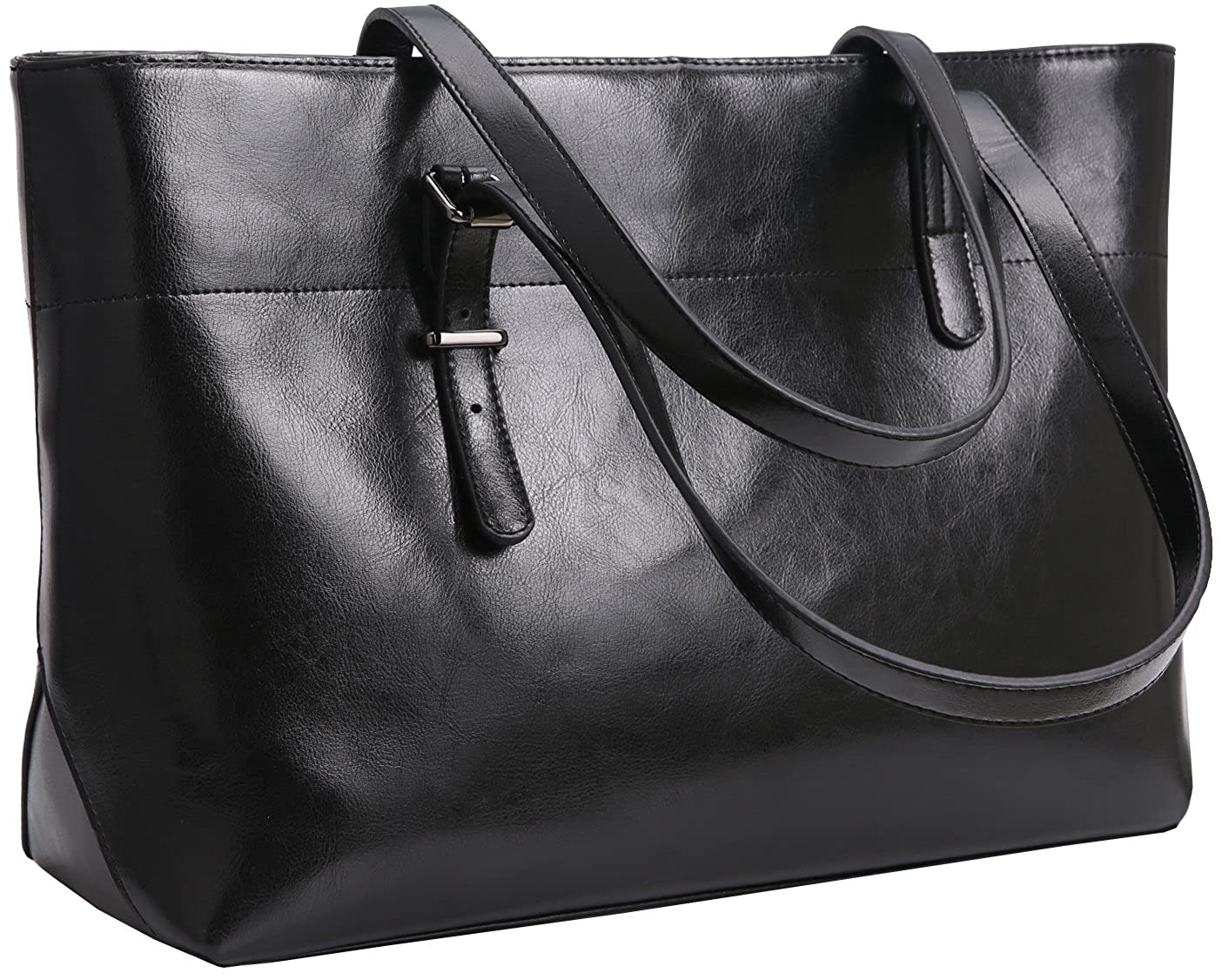 f57b5b39e8de Iswee Womens Leather Shoulder Handbag Tote Bags Top Handle Bag Designer  Ladies Purses Fashion Large Capacity Bags