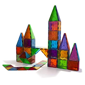 Magna-Tiles Clear Colors Building Toys for Kids