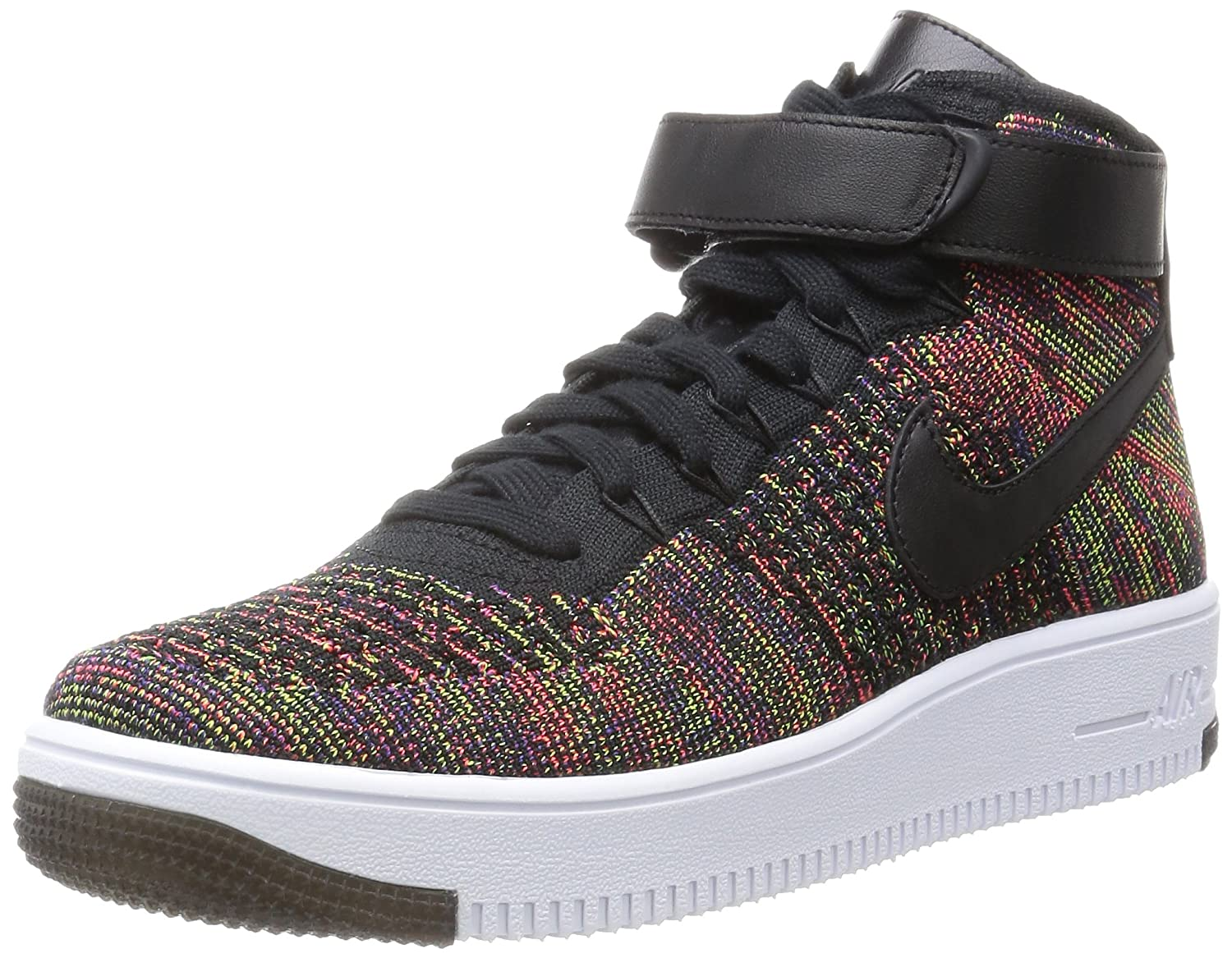 Nike Air Force 1 AF1 Ultra Flyknit Mid (Black Bright Crimson)