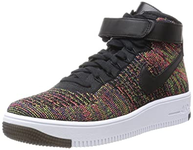 huge selection of d81b3 16961 NIKE Men's AF1 Ultra Flyknit Mid, Black/Brght Crimson-Court Purple-Violet