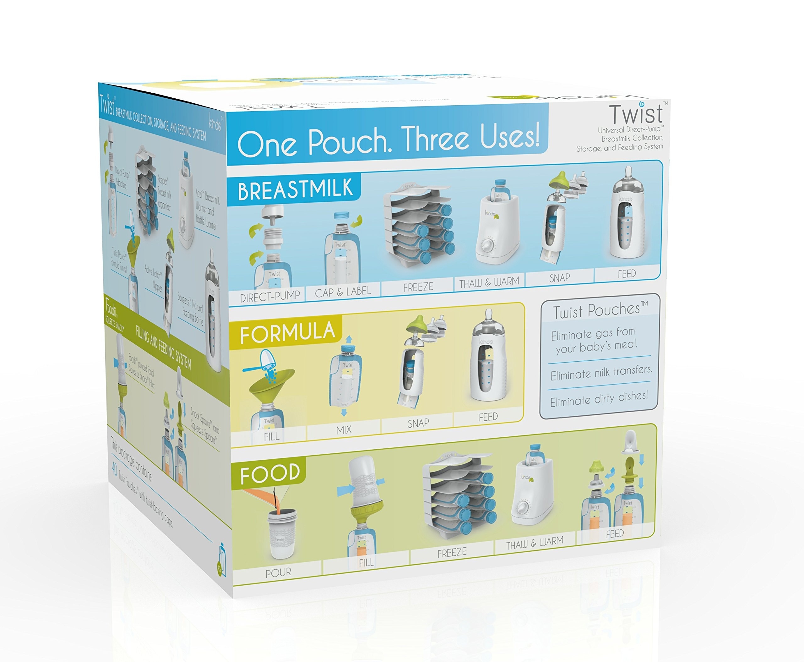 Kiinde Twist Pouch Breast Milk Storage Bags for Pumping, Freezing, and Feeding by Kiinde (Image #8)