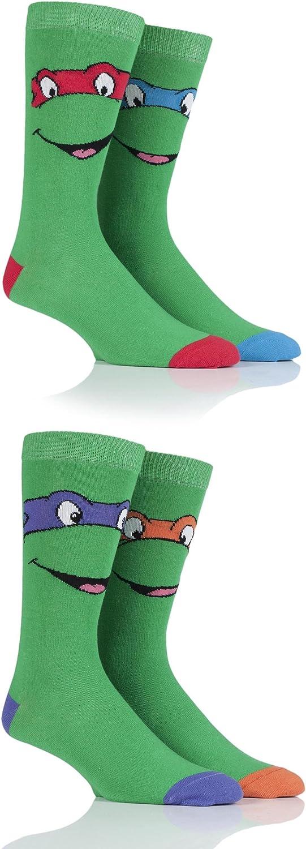 Mens 4 Pair SockShop Teenage Mutant Ninja Turtles Cotton Socks