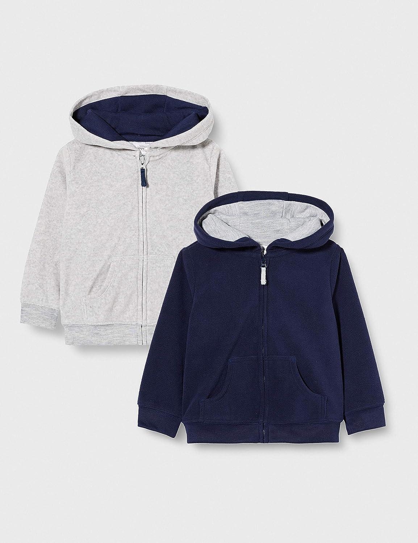 Simple Joys by Carter's Baby Boys' 2-Pack Fleece Full Zip Hoodies: Clothing