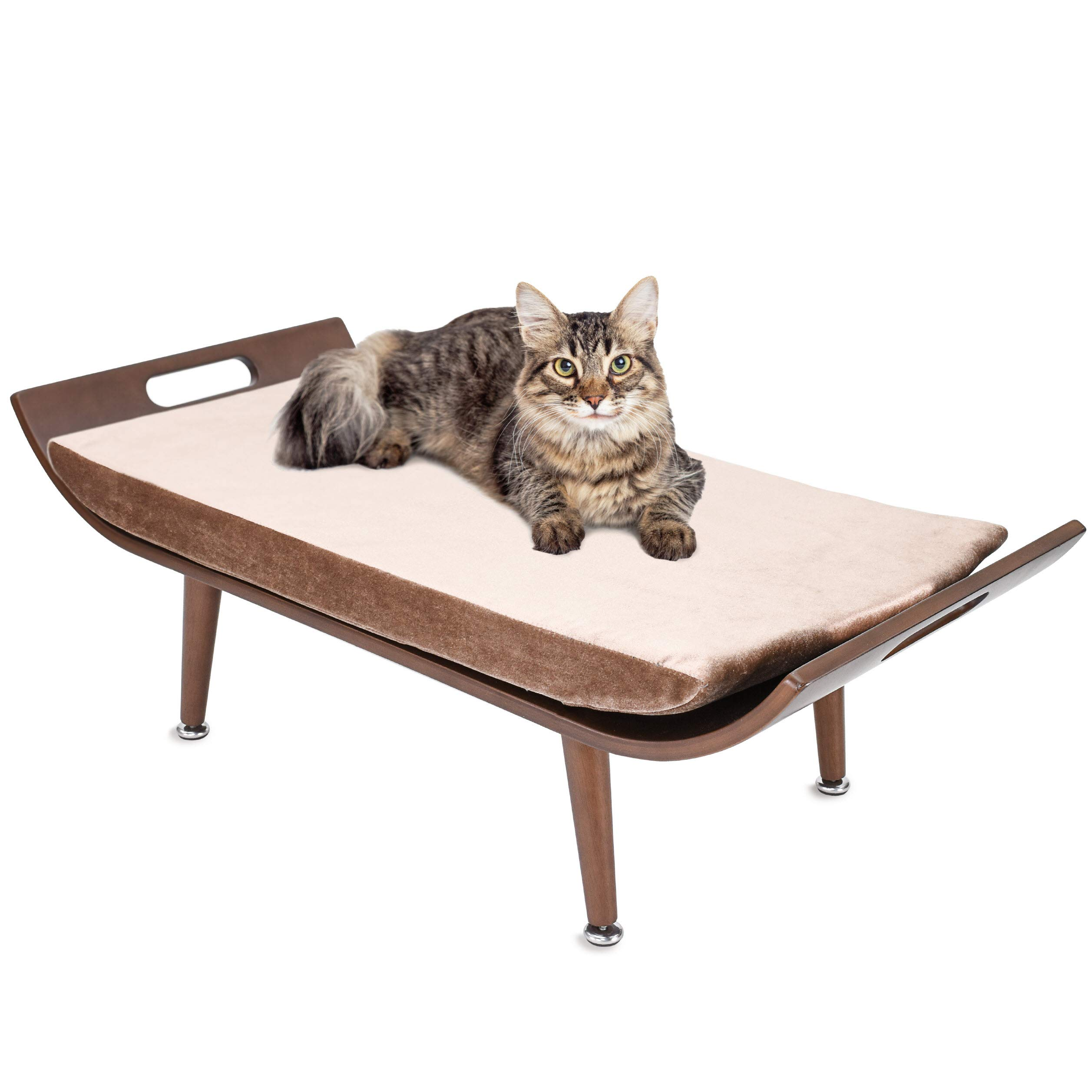 Penn Plax Luxury Cat Bed Lounger, Mid Century Modern Cat Furniture, For All Size of Cats by Penn Plax