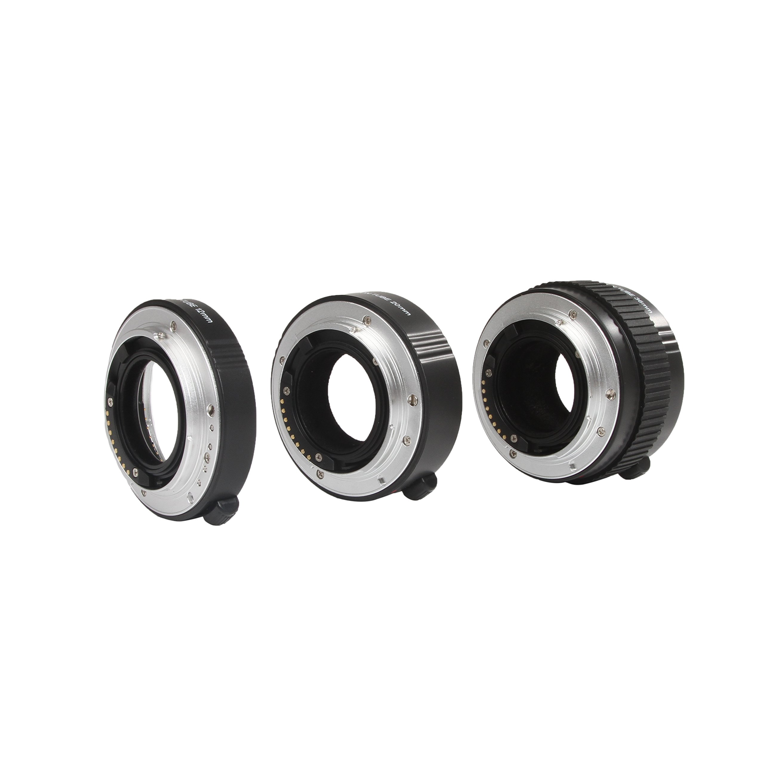 Movo Photo AF Macro Extension Tube Set for Sony Alpha DSLR Camera with 12mm, 20mm and 36mm Tubes (Metal Mount) by Movo