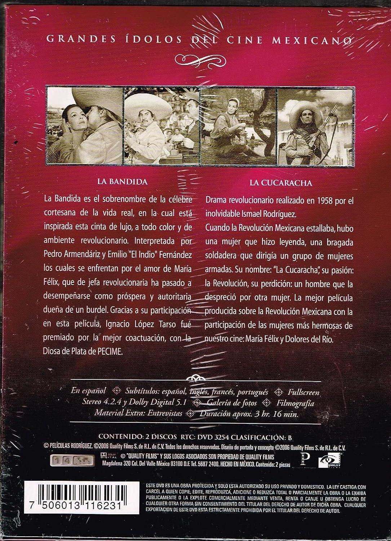 Amazon.com: GRANDES IDOLOS DEL CINE MEXICANO [LA BANDIDA ...