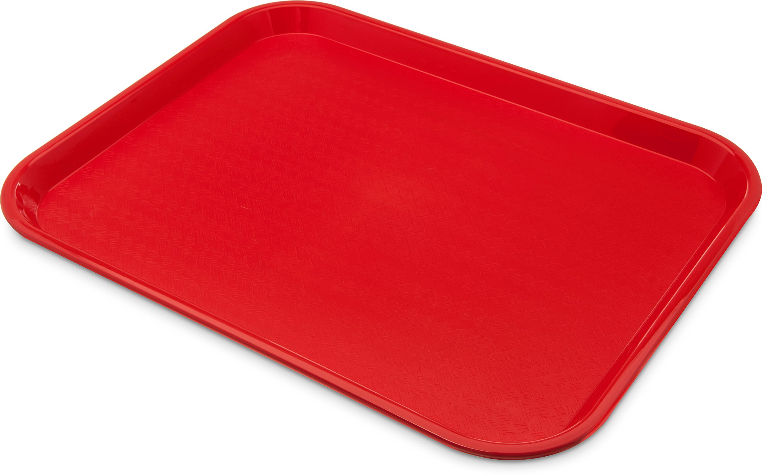 Carlisle CT141805 Café Standard Cafeteria / Fast Food Tray, 14'' x 18'', Red (Pack of 12)