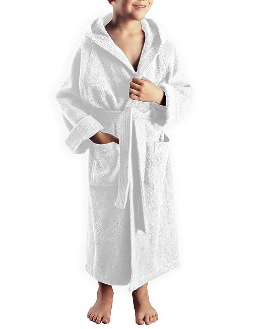 Arus - Albornoz niños con capucha para niñas y niños, 100% algodón tela de toalla de rizo: Amazon.es: Ropa y accesorios