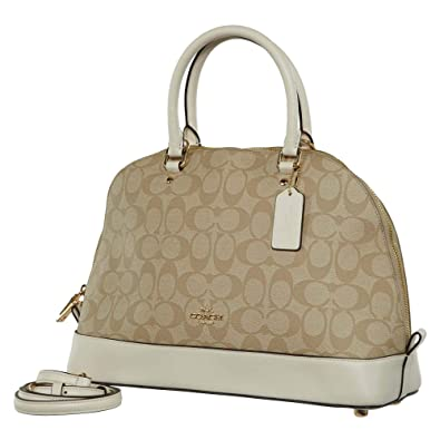 c745c25e340 Amazon.com: Coach Signature Sierra Satchel - Light Khaki/Chalk: Shoes