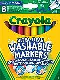 Crayola - 58-8328-e-000 - 8 Feutres À Colorier - Ultra Lavable