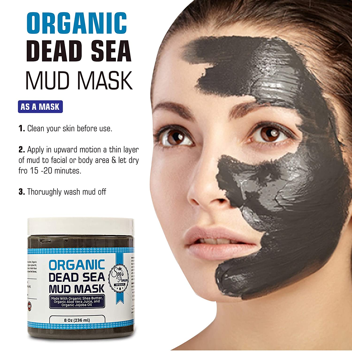 Spa's Premium Organic Dead Sea Mud Mask