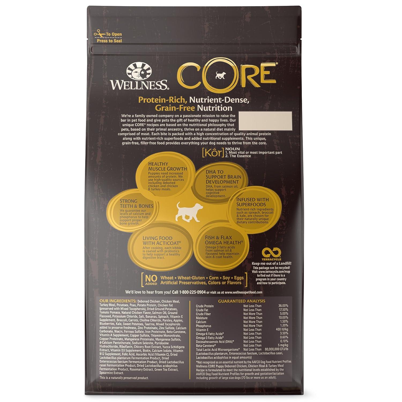 Amazon Wellness Core Natural Grain Free Dry Dog Food Puppy 4