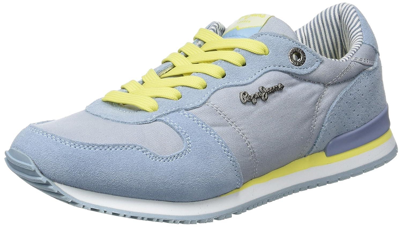 London, Sneakers Basses Femme, Bleu (Sky), 36 (EU)Pepe Jeans London