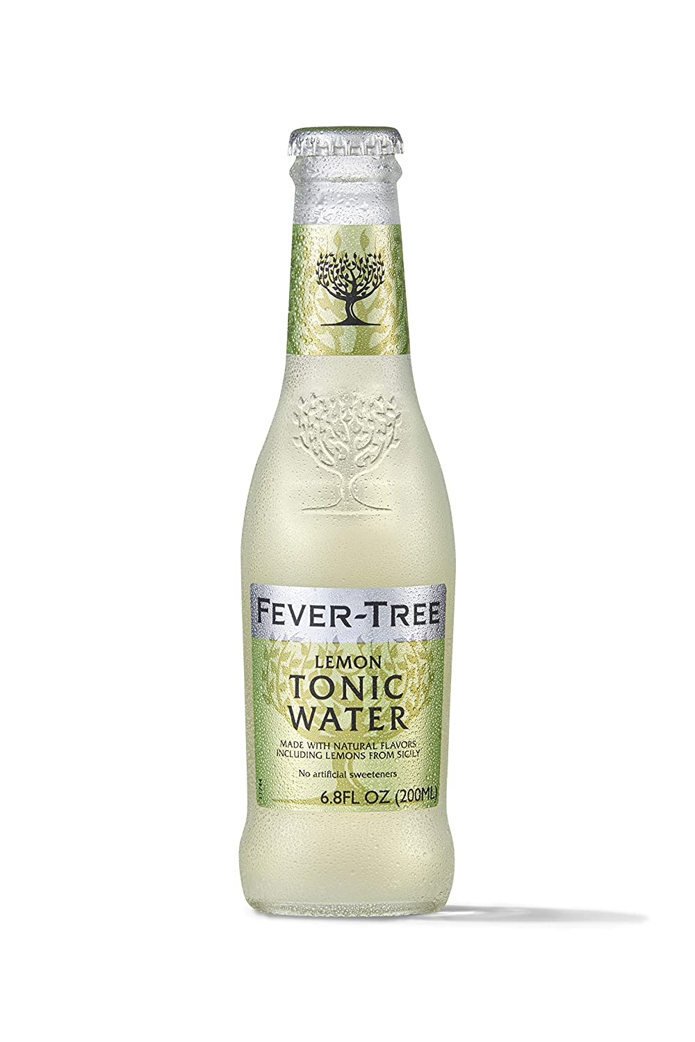 Fever-Tree Premium Sparkling Lemon Drink Glass Bottles, No Artificial Sweeteners, Flavorings & Preservatives, 6.8 Fl Oz (Pack of 24)