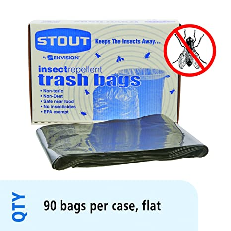 Amazon.com: Stout insect-repellent basura bolsas, con pest ...