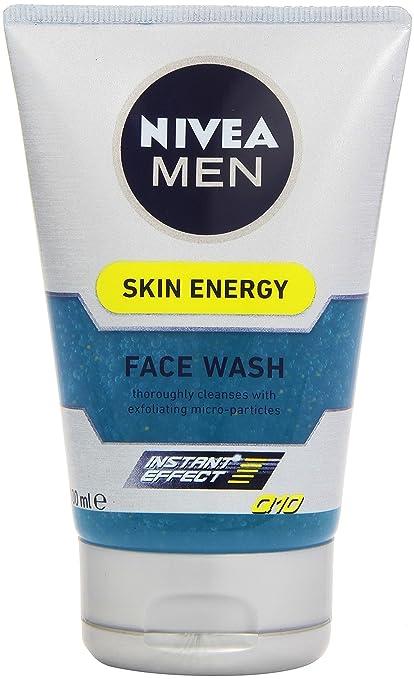 NIVEA MEN Active Energy - Gel Limpiador Revitalizante, gel facial limpiador con Vitamin+ Complex, gel hidratante para el cuidado de la piel, pack de 3 ...