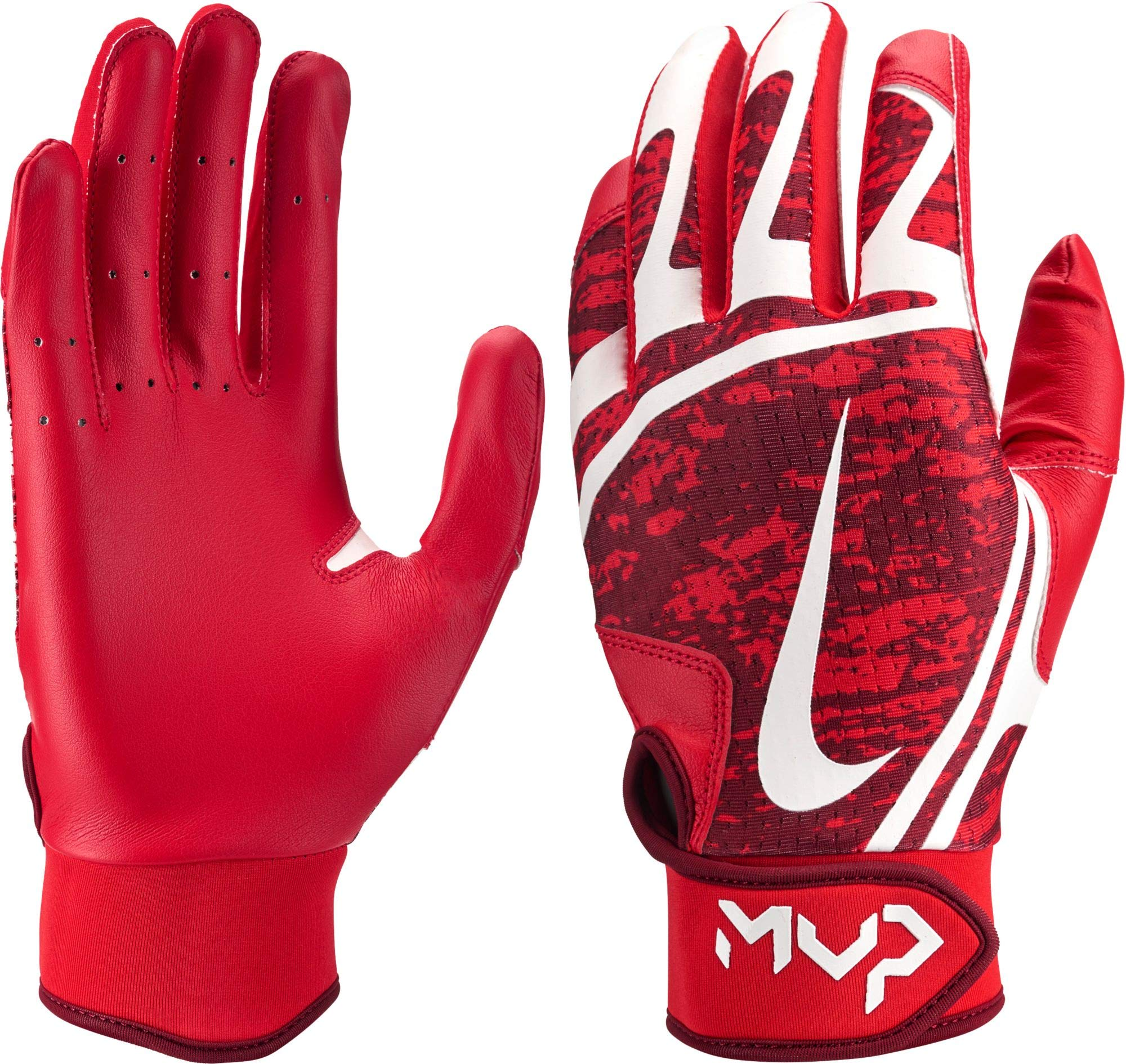 Nike Women's Hyperdiamond Edge Batting Gloves 2019 (Red/White, X-Large) by Nike (Image #1)