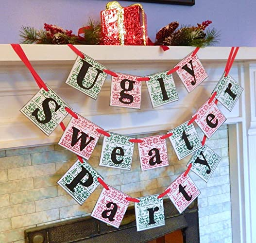 ugly sweater party bannerchristmas party decorationsugly sweater party photo propsweater