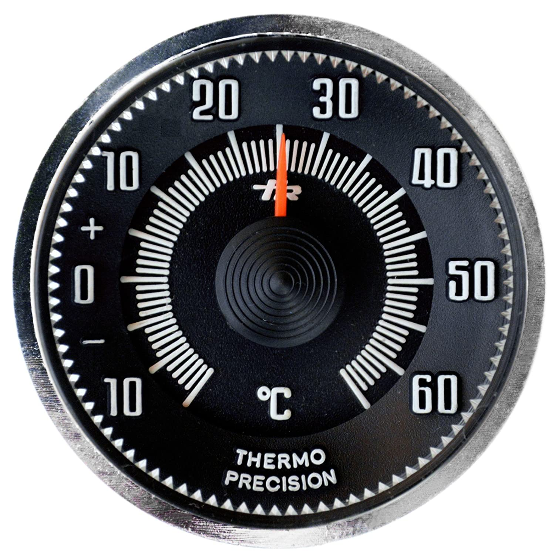 PKW Auto Zusatz Thermometer 1960 mit Magnethalter / HR Art. 4670M RICHTER