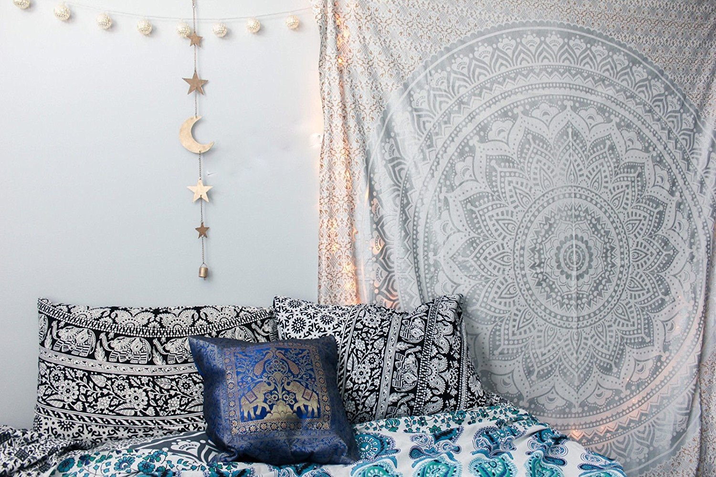 Tapestry regina verde Ombre Hippie Arazzo Mandala Bohemian psichedelico intricato indiano copriletto 233, 7 x 208, 3 cm Aakriti Gallery (Blue) TDO22