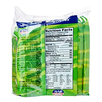 MY San SkyFlakes Crackers Fit Oat Fiber, Net Wt: 250g (8.8oz) 1 Pack