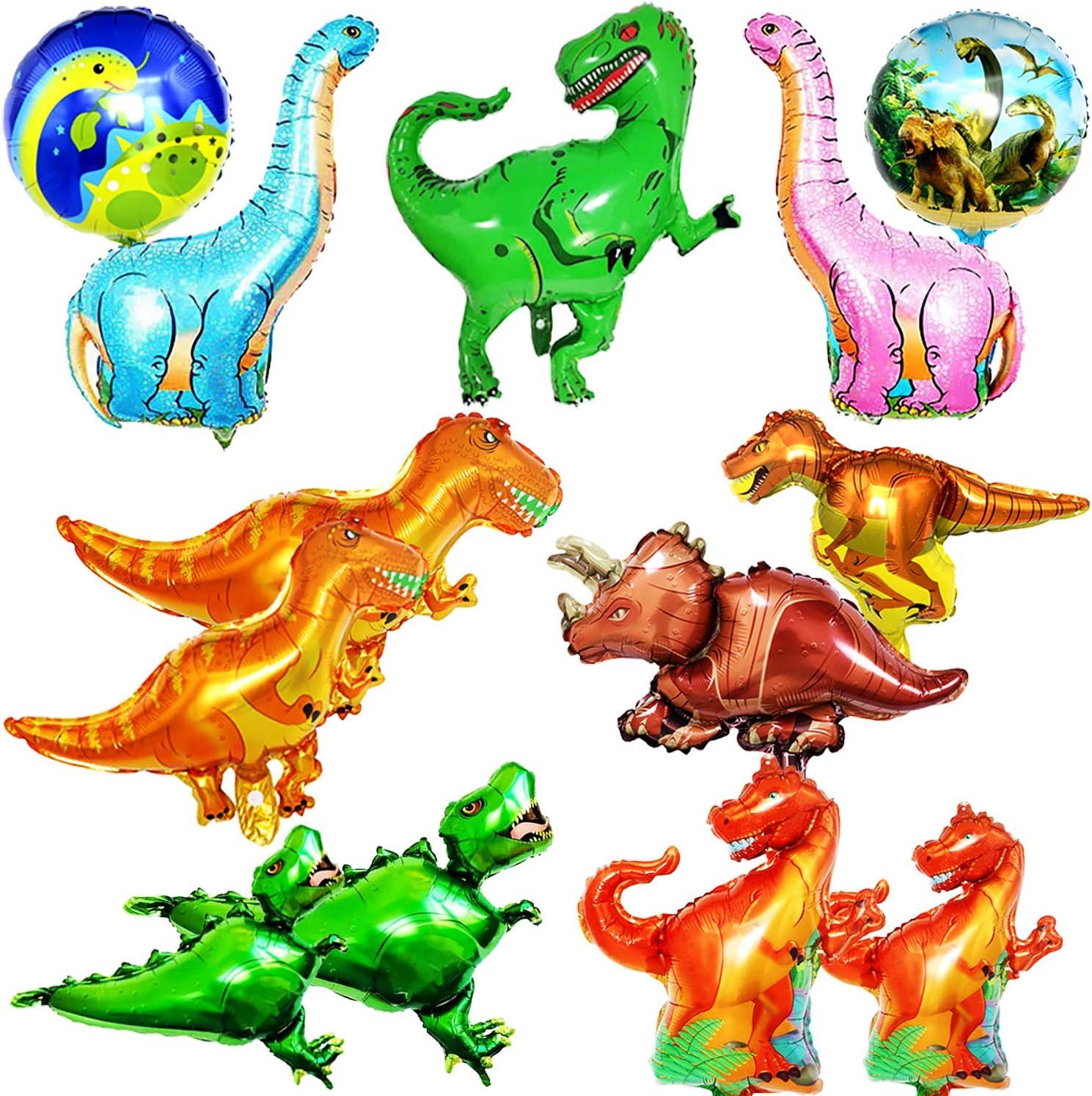 BESTZY Dinosaurio Globo 13pcs Mascota Foil Balloons Globos Pelotas Sets De Decoración para Fiesta Bodas Decoracion de Fiesta de Cumpleanos Regalo de ninos