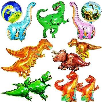 BESTZY Dinosaurio Globo 13pcs Mascota Foil Balloons Globos ...