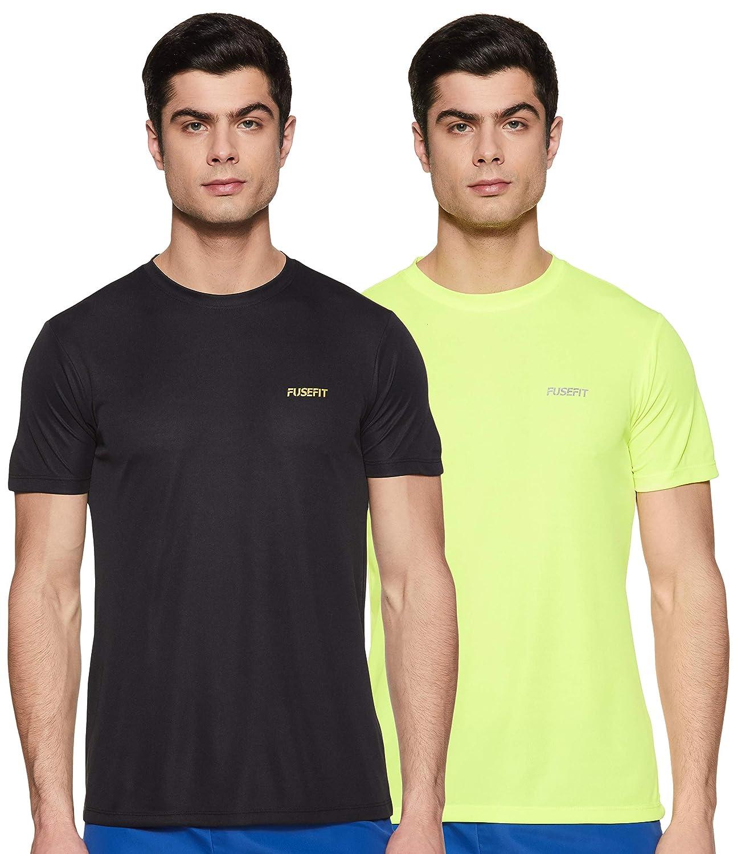 Fusefit Men's Slim Fit T-Shirt – Pack of 2 – Size L