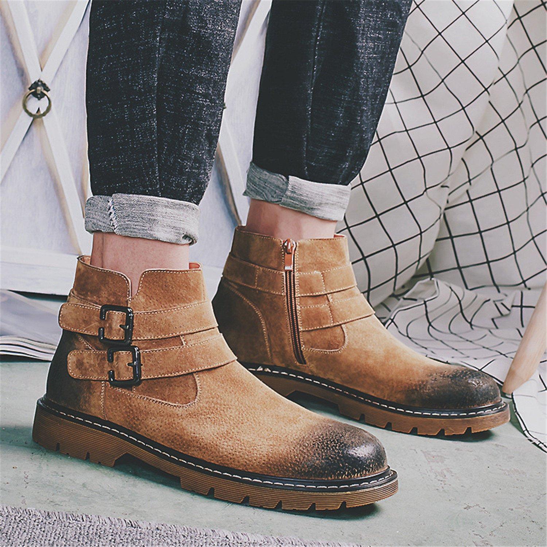 Men's Suede Martin Ankle Boot Retro Working Shoe Fashion Winter Bootie:  Amazon.ca: Shoes & Handbags