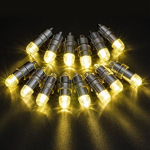 2 opinioni per Atcket, set da 12 luci a LED per palloncini, alimentate a batteria, colore della