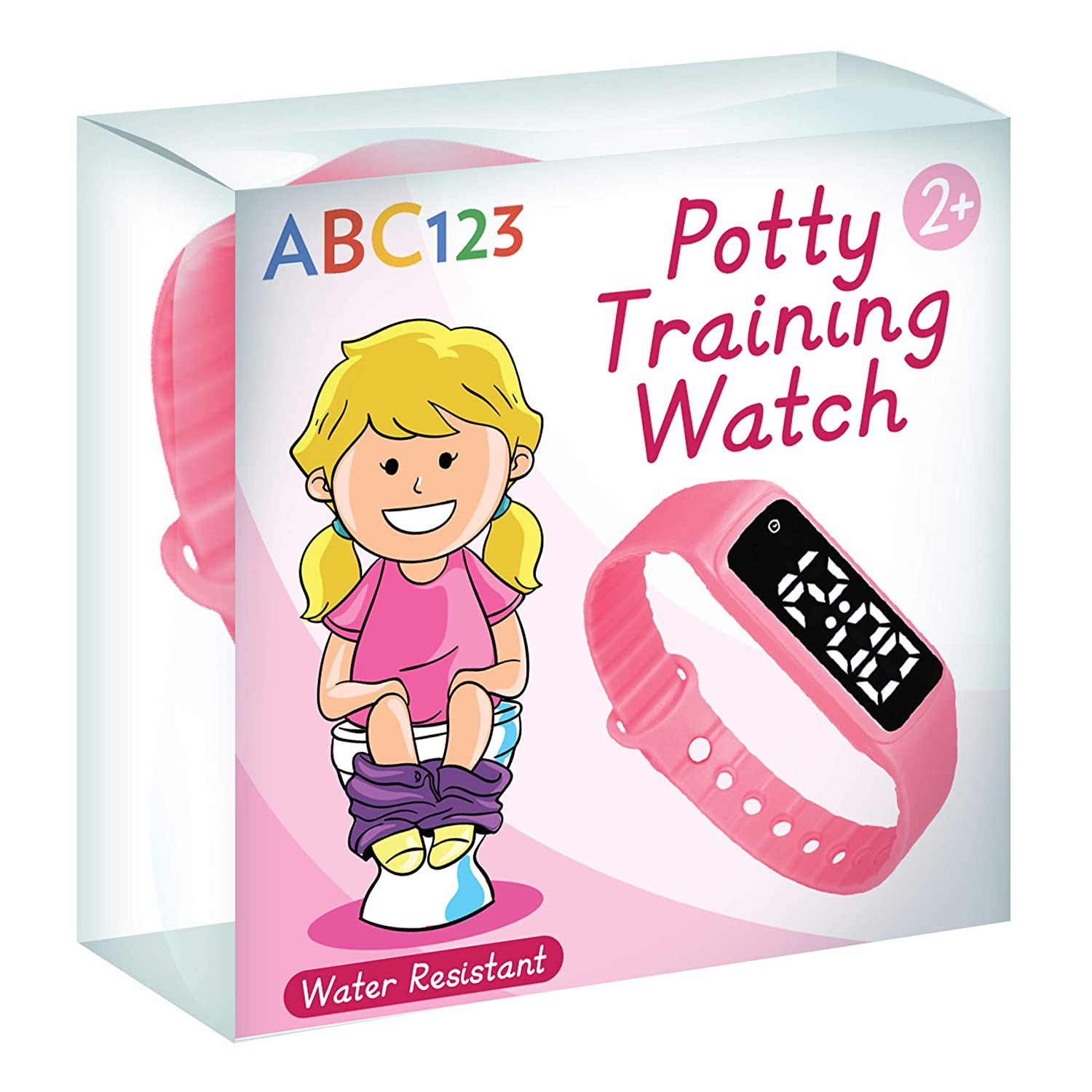 Abc123 Potty Training Watch - Baby Reminder Water Resistant Timer für Toilet Training Kids & Toddler (Pink)