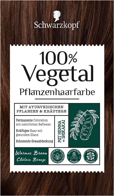 Coloración 100% Vegetal marrón cálido, nivel 3, 3 unidades (3 x 80 ml)