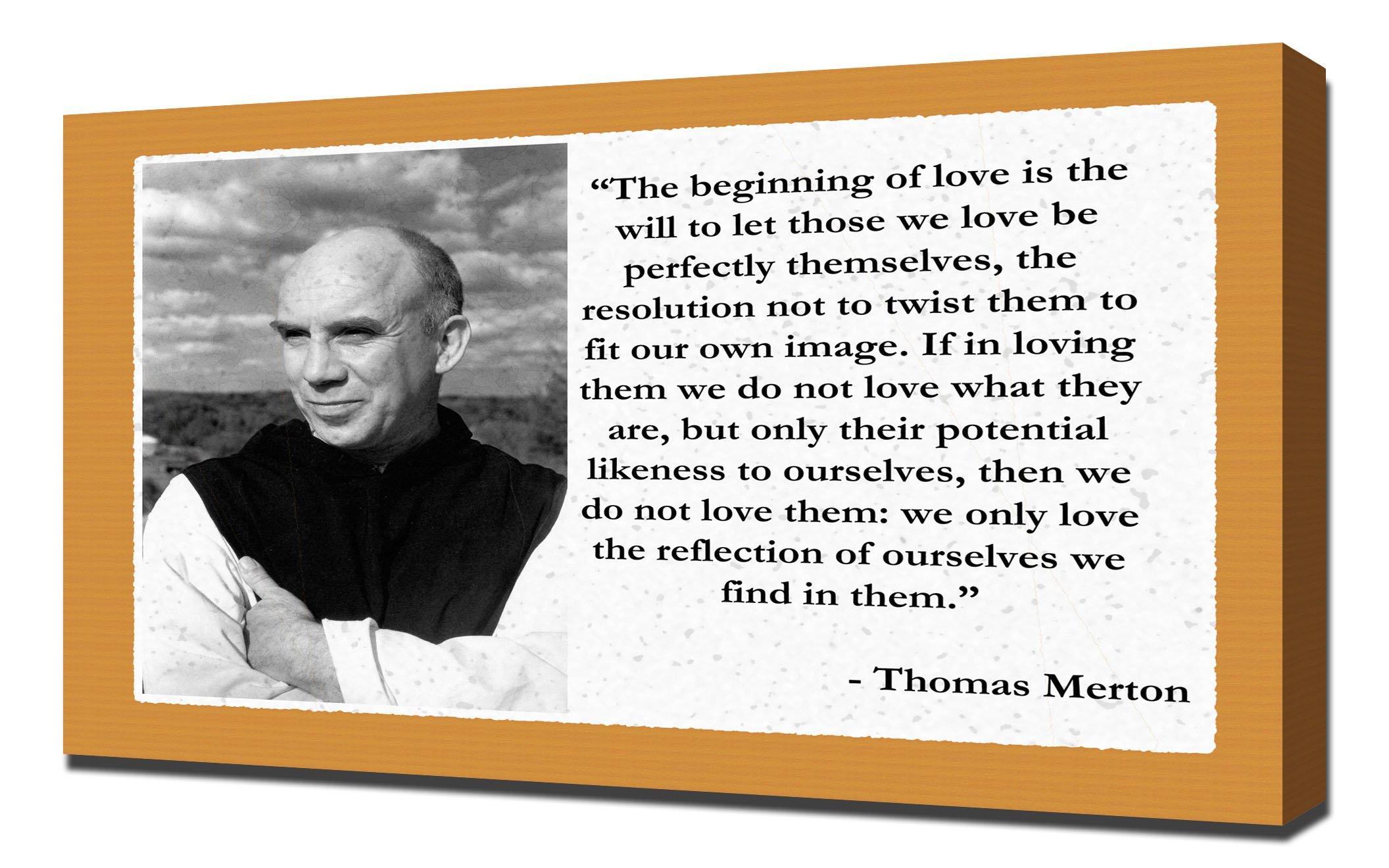 Thomas Merton Love Quotes - Canvas Art Print