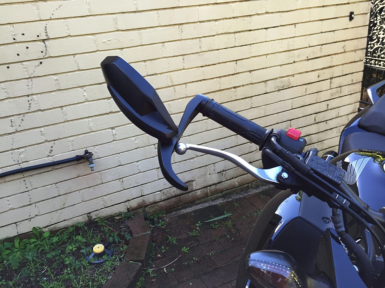 Folding Bar End Mirrors with Lever Guard 7490//91 Pair