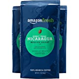 AmazonFresh Direct Trade Nicaragua Coffee, Medium Roast, Whole Bean, 12 Ounce, Pack of 3