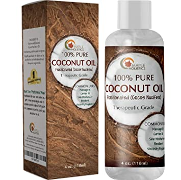 Fractionated Coconut Oil for Skin Therapeutic Carrier Oil Moisturizer for  Face and Body Natural Anti