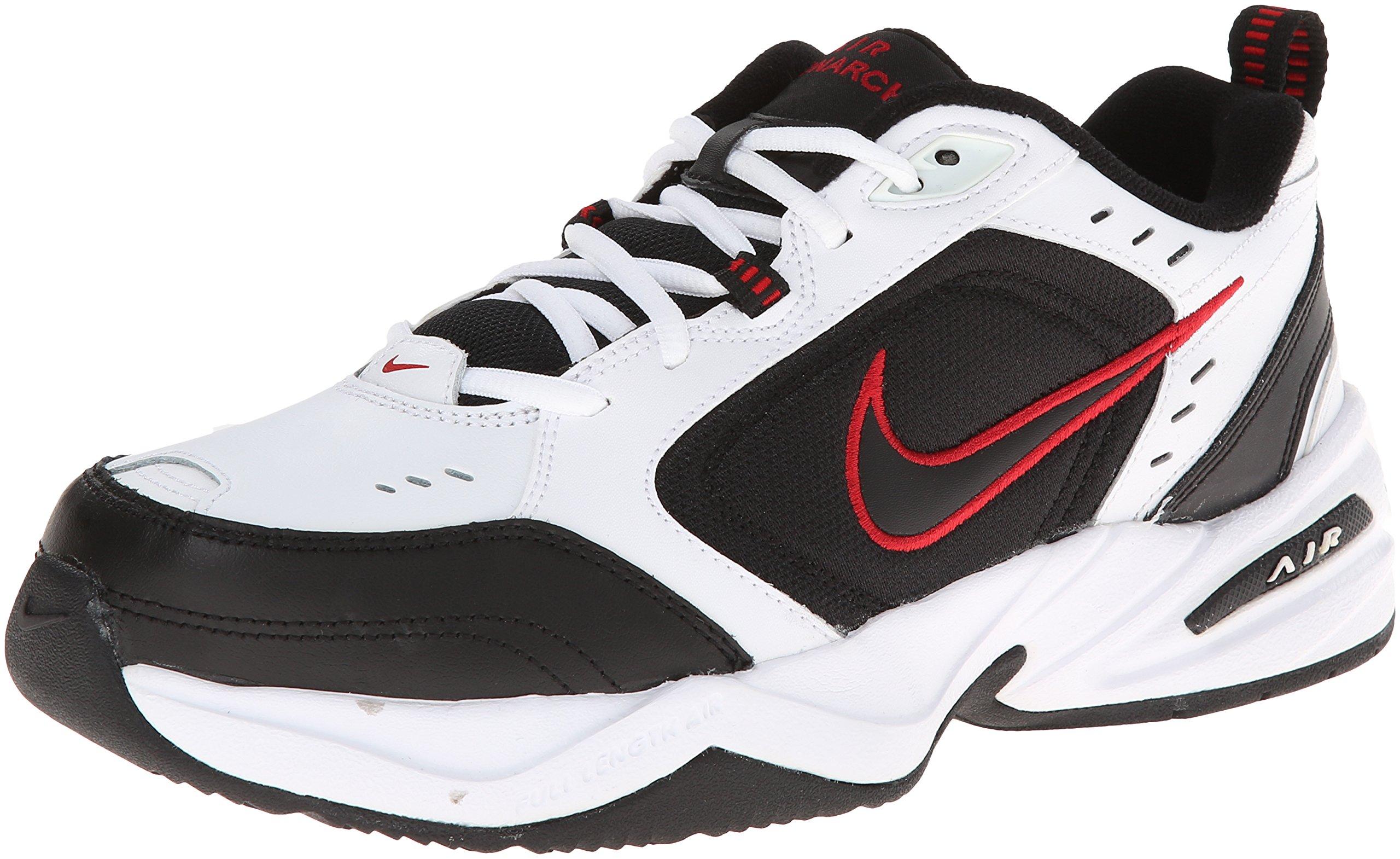 size 40 cd68d 88332 Galleon - Nike Air Monarch IV Training Shoe (4E) - White Black Varsity Red,  Size 10 US