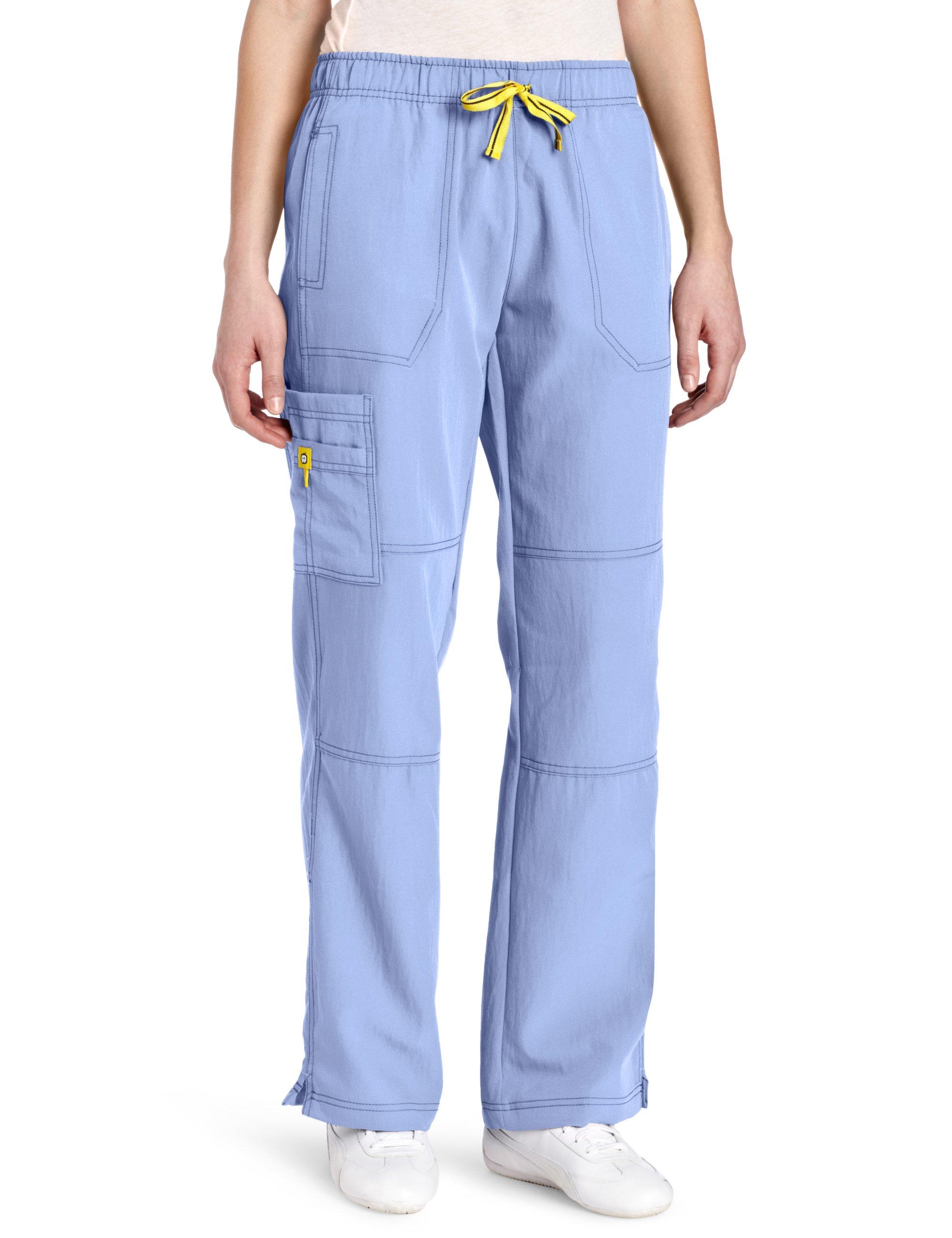 WonderWink Women's Scrubs Four Way Stretch Sporty Cargo Pant, Ceil Blue, Small by WonderWink