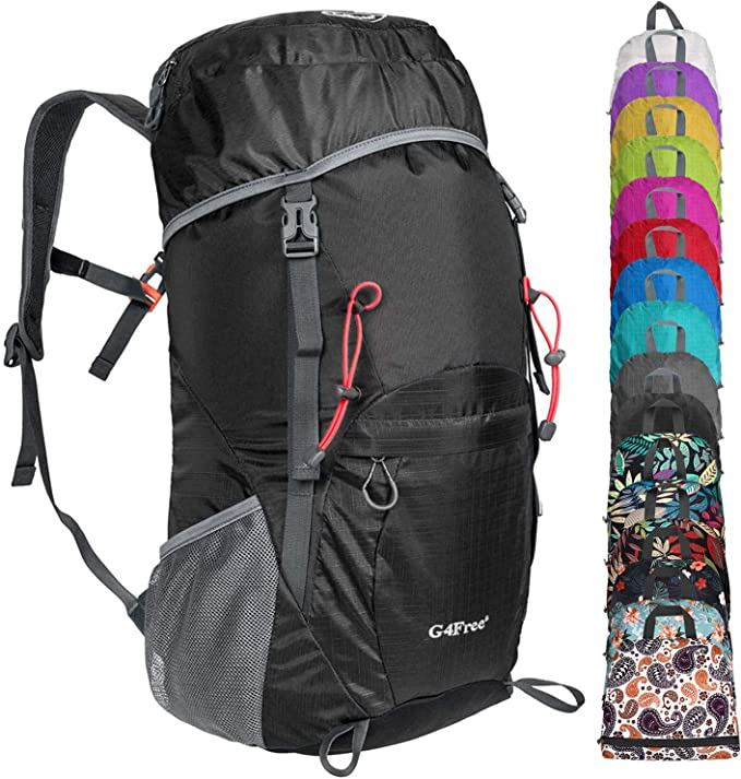 G4Free 45L Waterproof Hiking Backpack with Rain Cover Large Rucksack Travel Daypack for Outdoor Camping Mountaineering Trekking