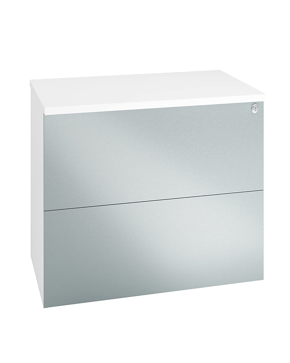 BLACK GLOSS PRISM ECO High Quality 2-Drawer Wooden Side-Filing Cabinet