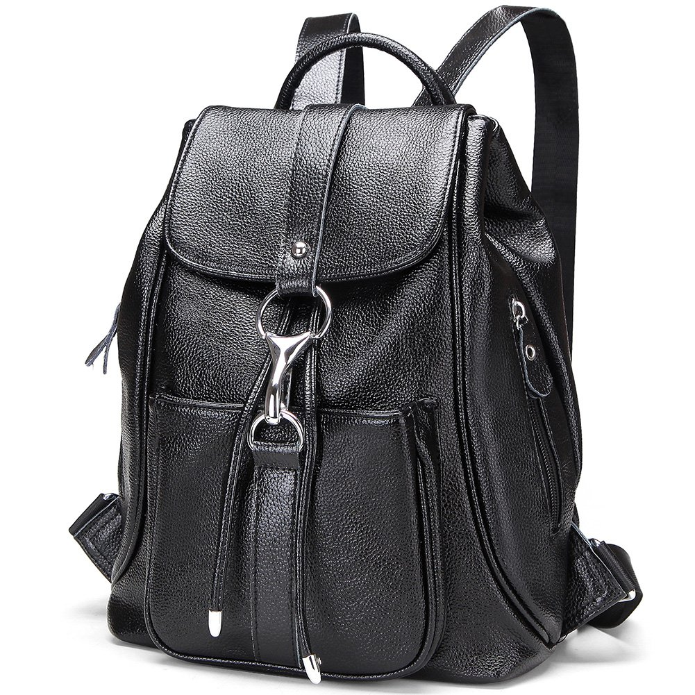Modoker Genuine Leather Backpack Purse for Women Travel Backpack Shoulder Bag