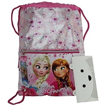 Disney Frozen Elsa y Anna Blossom Mochila Bolso Escolar Bolsa cuerdas: Amazon.es: Equipaje