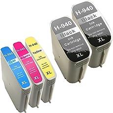Paquete de 5 cartuchos de tinta de alto rendimiento 940 XL para HP Officejet Pro 8000 8500 Premium A909a A811a A811a