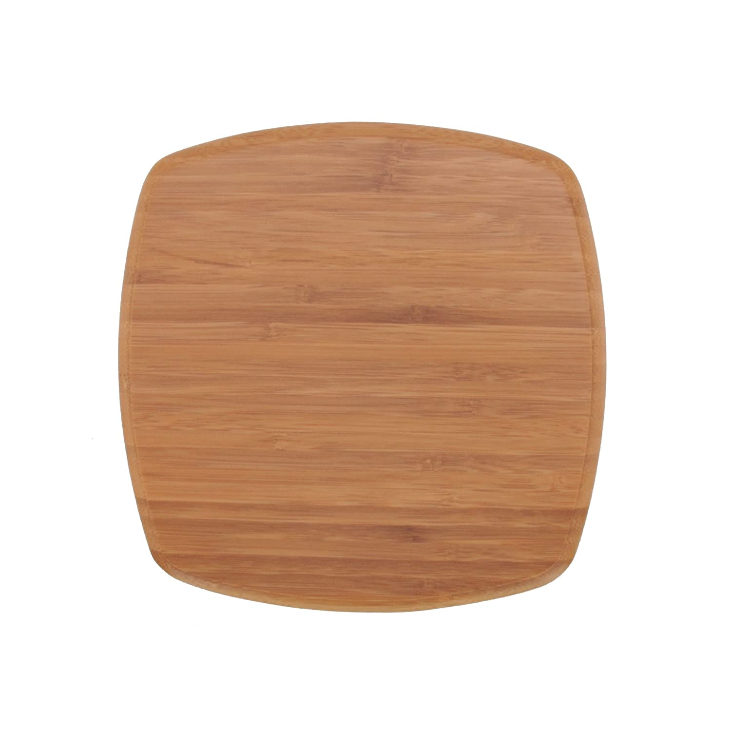 Countertop or Kitchen BambooMN 8 x 8 Organic Bamboo Decorative Display Table Top Tea Serving Tray Plate Holder for Coffee Dining Table