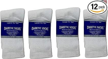 White Diabetic Socks 12 Pair Low Cut Size Large Shoe Sizes 7-11.5    1st Quality